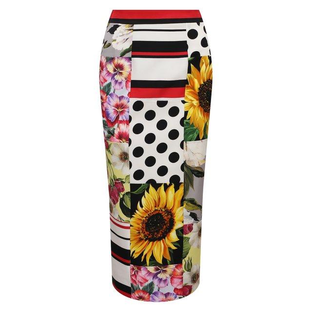 Шелковая юбка Dolce & Gabbana