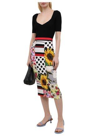 Женская шелковая юбка DOLCE & GABBANA разноцветного цвета, арт. F4B1ZT/GDX64 | Фото 2