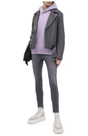 Женские джинсы AG серого цвета, арт. AHD1389/SHLN/MX   Фото 2