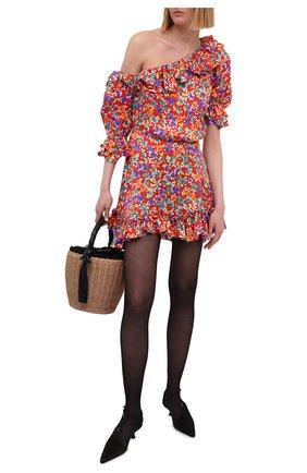 Женское шелковое платье SAINT LAURENT красного цвета, арт. 646246/Y5C61 | Фото 2