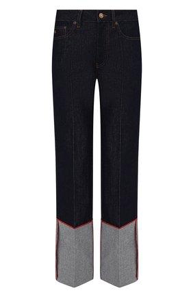 Женские джинсы VICTORIA BECKHAM темно-синего цвета, арт. 1221DJE002654A | Фото 1