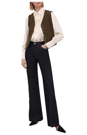 Женские джинсы VICTORIA BECKHAM синего цвета, арт. 1221DJE002765A | Фото 2