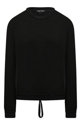 Женский свитшот из шелка и хлопка TOM FORD черного цвета, арт. FLJ008-FAX814   Фото 1
