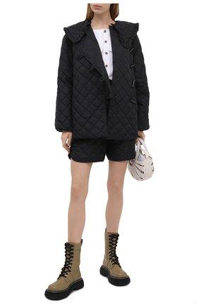 Женские шорты GANNI черного цвета, арт. F5813 | Фото 2