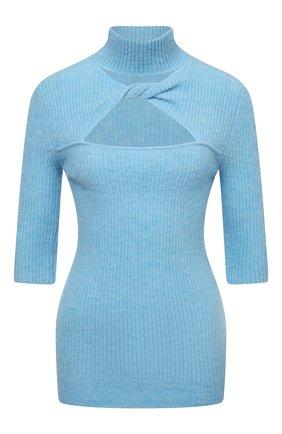 Женский шерстяной пуловер GANNI голубого цвета, арт. K1500 | Фото 1