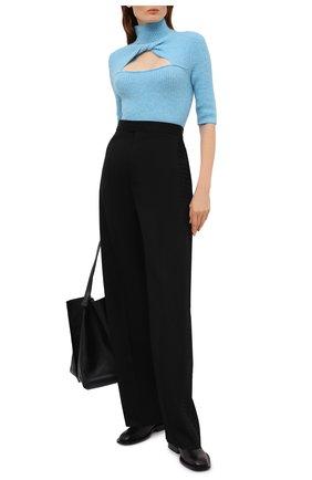 Женский шерстяной пуловер GANNI голубого цвета, арт. K1500 | Фото 2