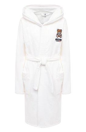 Женский хлопковый халат MOSCHINO UNDERWEAR WOMAN белого цвета, арт. A7301/9040 | Фото 1