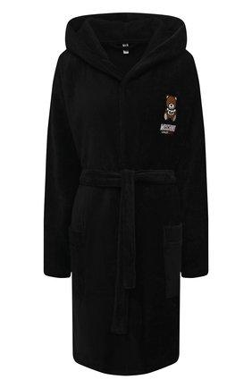 Женский хлопковый халат MOSCHINO UNDERWEAR WOMAN черного цвета, арт. A7301/9040 | Фото 1