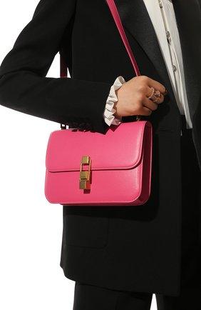 Женская сумка carre SAINT LAURENT розового цвета, арт. 633214/1YF0W   Фото 2