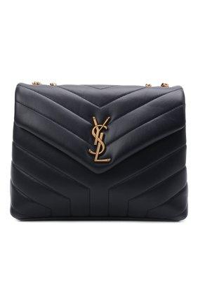 Женская сумка monogram loulou small SAINT LAURENT темно-синего цвета, арт. 494699/DV727   Фото 1