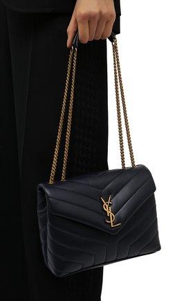 Женская сумка monogram loulou small SAINT LAURENT темно-синего цвета, арт. 494699/DV727   Фото 2