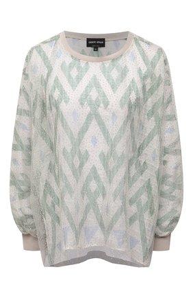 Женская блузка из шелка и вискозы GIORGIO ARMANI светло-зеленого цвета, арт. 1SHCCZ13/TZ818 | Фото 1