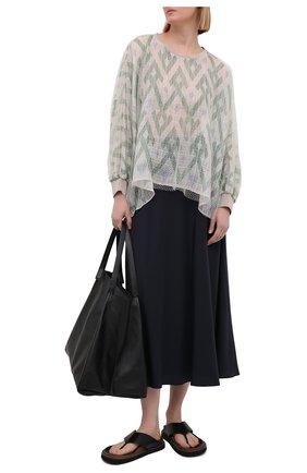 Женская блузка из шелка и вискозы GIORGIO ARMANI светло-зеленого цвета, арт. 1SHCCZ13/TZ818 | Фото 2