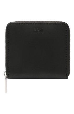 Мужской кожаное портмоне BOSS черного цвета, арт. 50451675   Фото 1