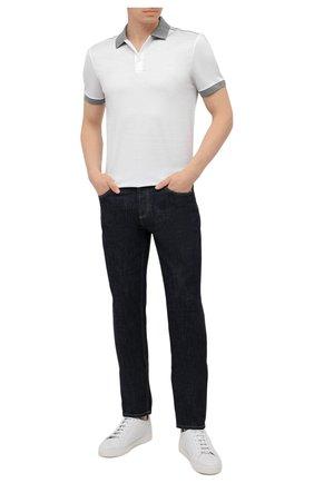 Мужское хлопковое поло BOSS белого цвета, арт. 50449919   Фото 2