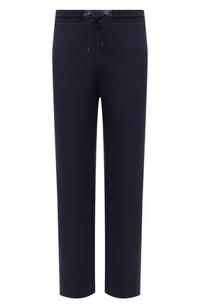 Мужские брюки BOGNER темно-синего цвета, арт. 18705253 | Фото 1 (Длина (брюки, джинсы): Стандартные; Кросс-КТ: Спорт; Материал внешний: Хлопок, Синтетический материал; Стили: Спорт-шик)