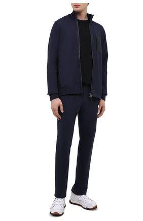 Мужские брюки BOGNER темно-синего цвета, арт. 18705253 | Фото 2 (Длина (брюки, джинсы): Стандартные; Кросс-КТ: Спорт; Материал внешний: Хлопок, Синтетический материал; Стили: Спорт-шик)