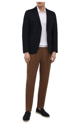 Мужской пиджак BOGNER темно-синего цвета, арт. 38716619 | Фото 2 (Случай: Коктейльный; 1-2-бортные: Однобортные; Стили: Классический; Рукава: Длинные; Длина (для топов): Стандартные; Пиджаки М: Приталенный; Материал внешний: Синтетический материал)
