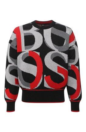 Мужской хлопковый свитер BOSS разноцветного цвета, арт. 50450032 | Фото 1