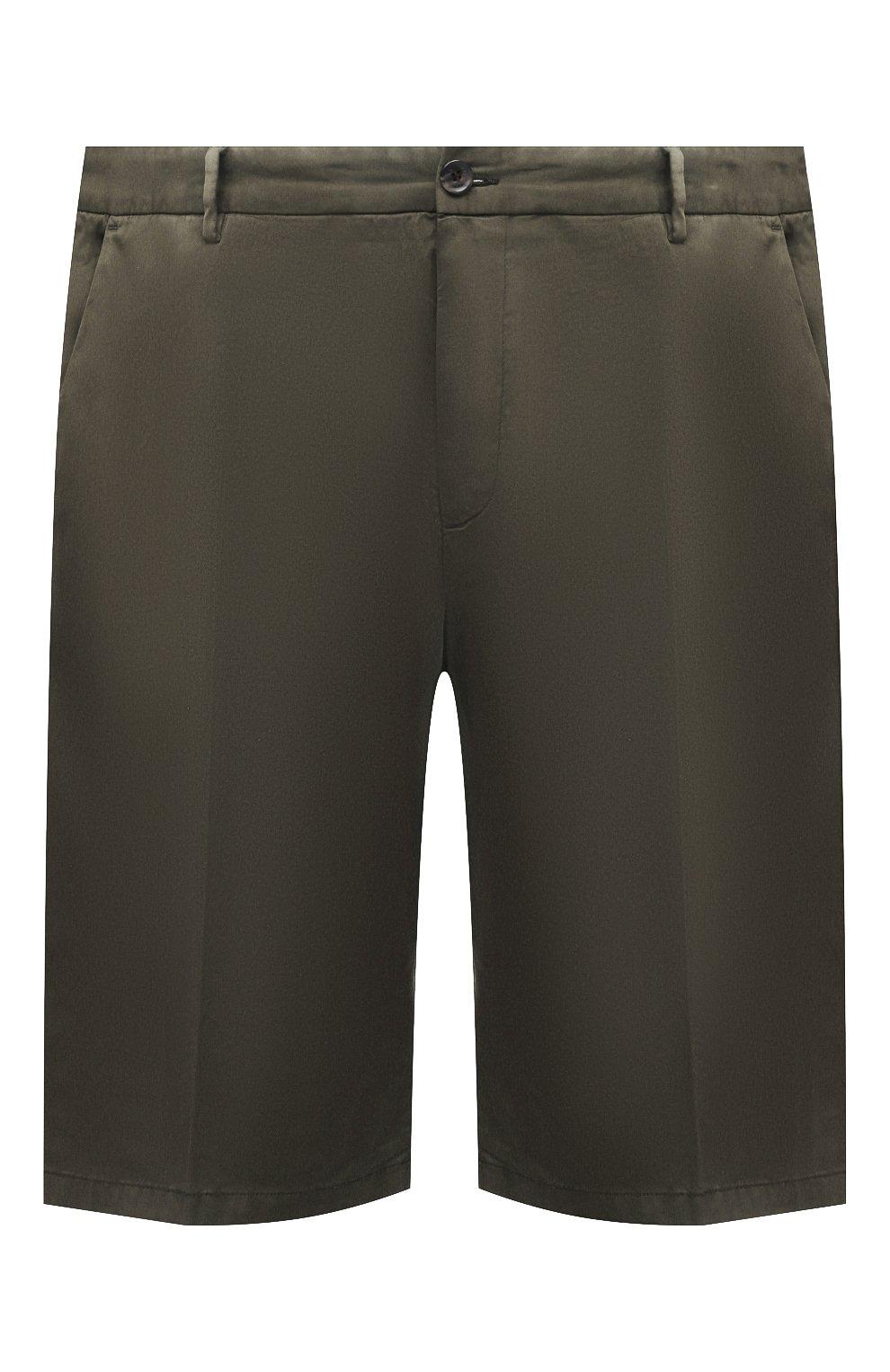 Мужские шорты из хлопка и шелка PAUL&SHARK хаки цвета, арт. 21414116/FIZ/62-64 | Фото 1