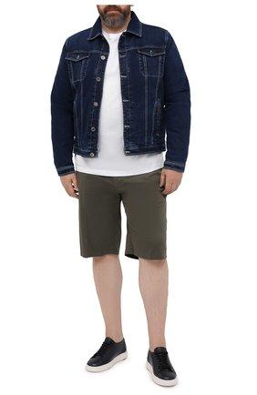 Мужские шорты из хлопка и шелка PAUL&SHARK хаки цвета, арт. 21414116/FIZ/62-64 | Фото 2