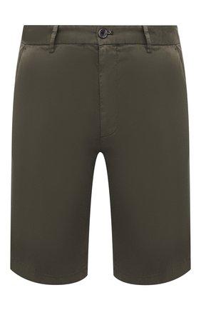 Мужские шорты из хлопка и шелка PAUL&SHARK хаки цвета, арт. 21414116/FIZ | Фото 1
