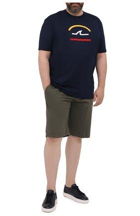 Мужские шорты из хлопка и шелка PAUL&SHARK хаки цвета, арт. 21414116/FIZ | Фото 2
