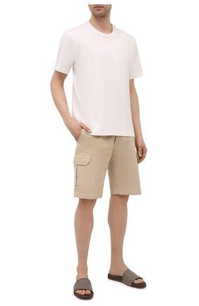 Мужские текстильные шлепанцы sea-slide LORO PIANA коричневого цвета, арт. FAL6200 | Фото 2