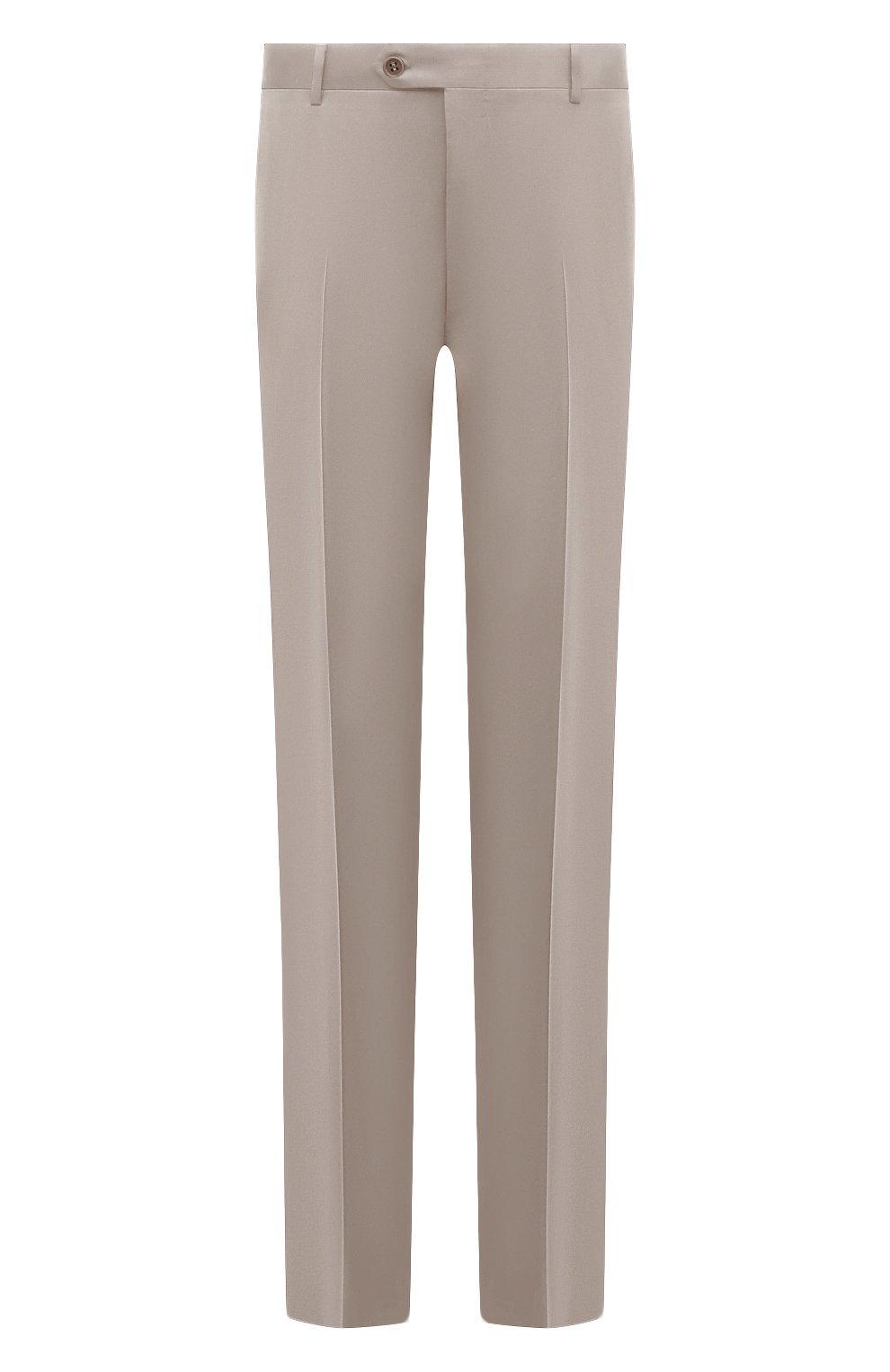 Мужские шерстяные брюки CANALI бежевого цвета, арт. 71012/AS10315/60-64   Фото 1