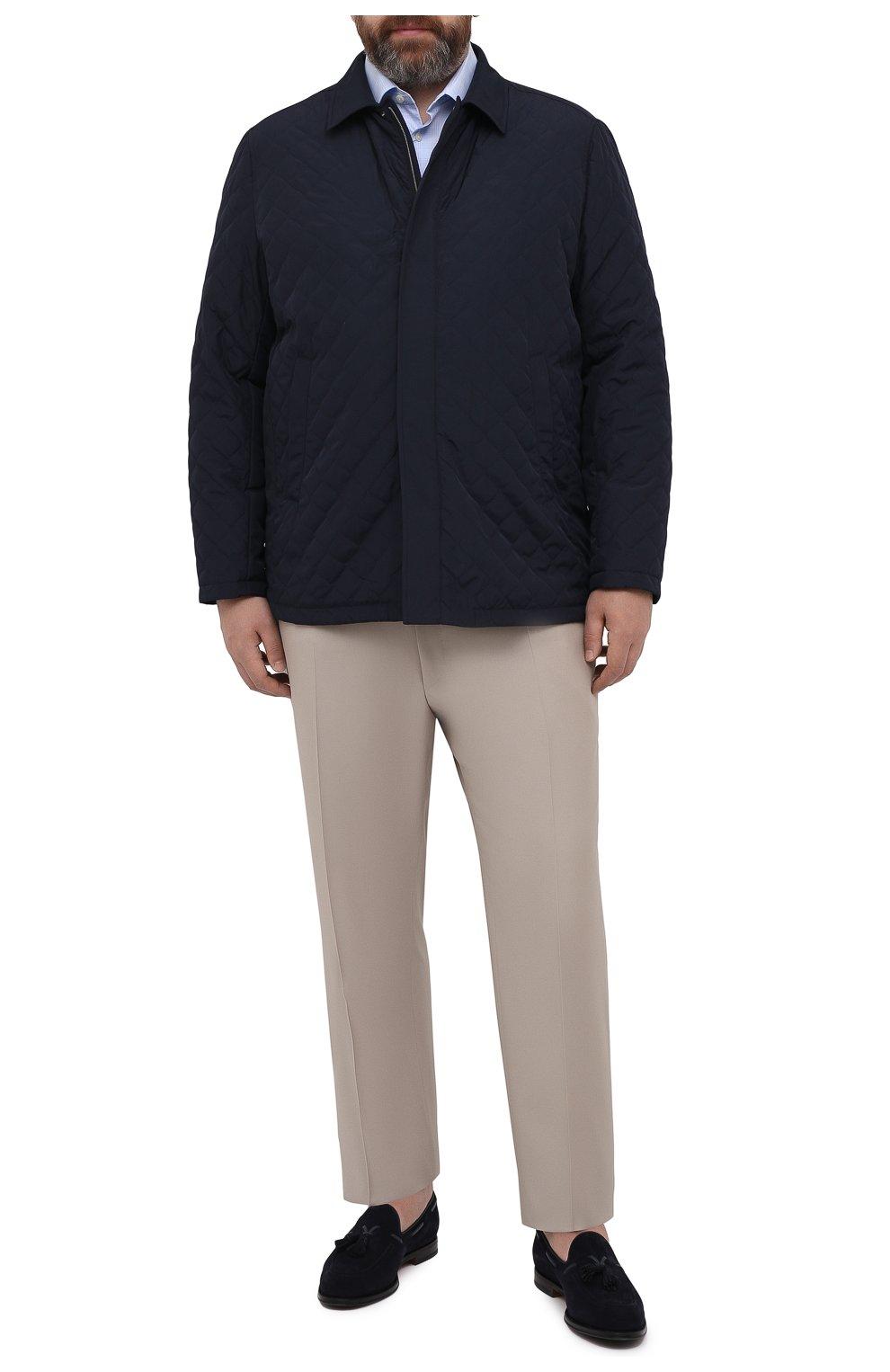 Мужские шерстяные брюки CANALI бежевого цвета, арт. 71012/AS10315/60-64   Фото 2