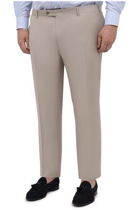 Мужские шерстяные брюки CANALI бежевого цвета, арт. 71012/AS10315/60-64   Фото 3