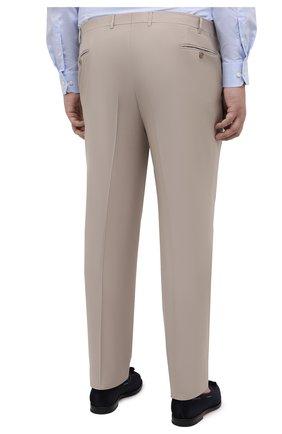 Мужские шерстяные брюки CANALI бежевого цвета, арт. 71012/AS10315/60-64   Фото 4
