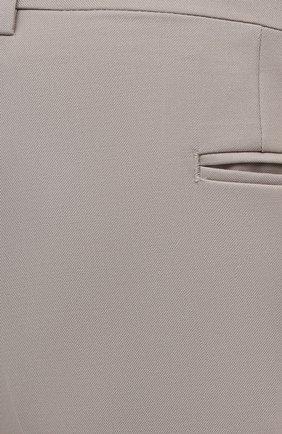 Мужские шерстяные брюки CANALI бежевого цвета, арт. 71012/AS10315/60-64   Фото 5