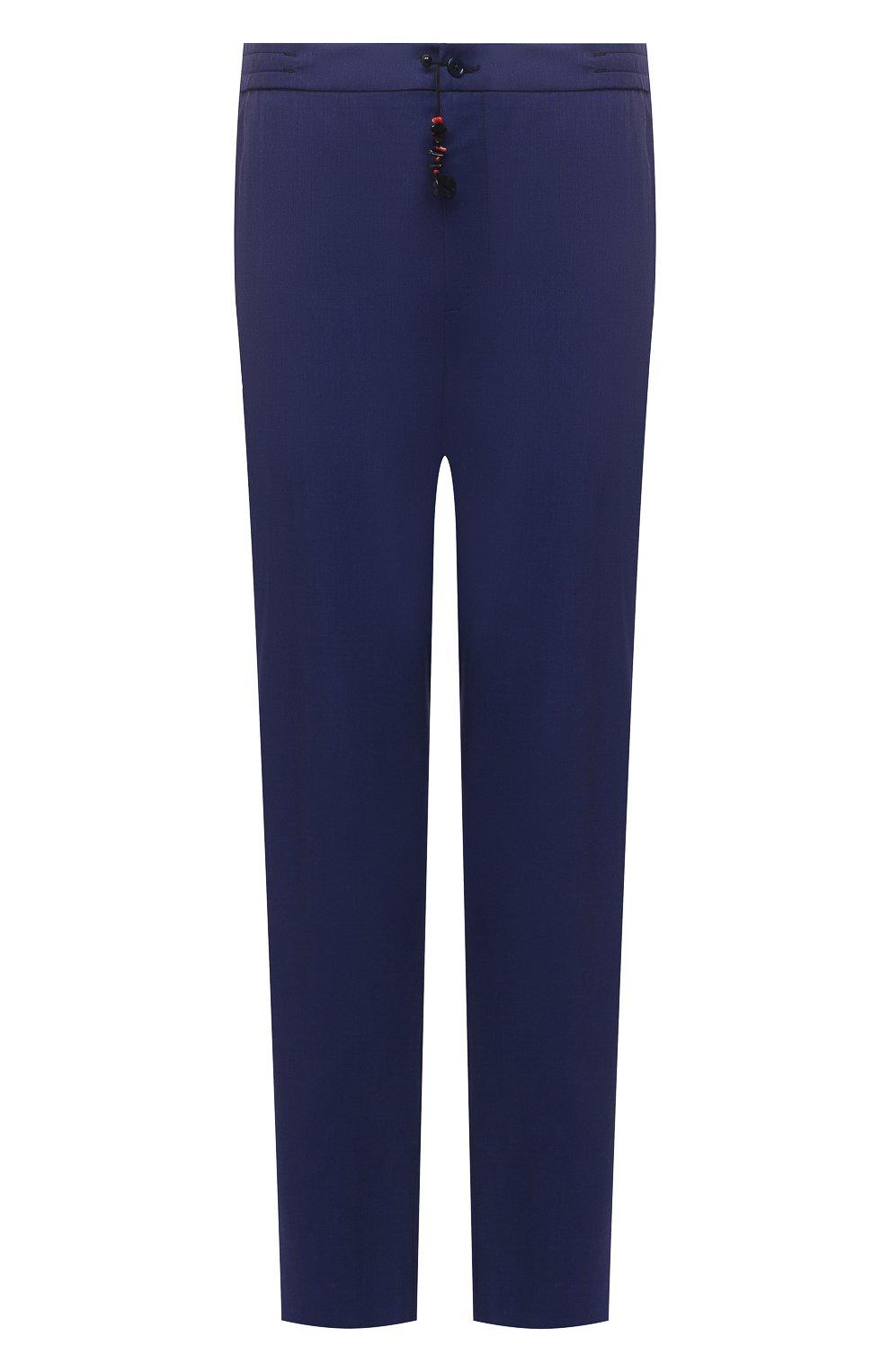 Мужские кашемировые брюки MARCO PESCAROLO синего цвета, арт. CHIAIAM/4334   Фото 1 (Big sizes: Big Sizes; Материал внешний: Шерсть, Кашемир; Длина (брюки, джинсы): Стандартные; Случай: Повседневный; Стили: Кэжуэл)