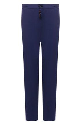 Мужские кашемировые брюки MARCO PESCAROLO синего цвета, арт. CHIAIAM/4334 | Фото 1 (Материал внешний: Кашемир, Шерсть; Big sizes: Big Sizes; Длина (брюки, джинсы): Стандартные; Стили: Кэжуэл; Случай: Повседневный)