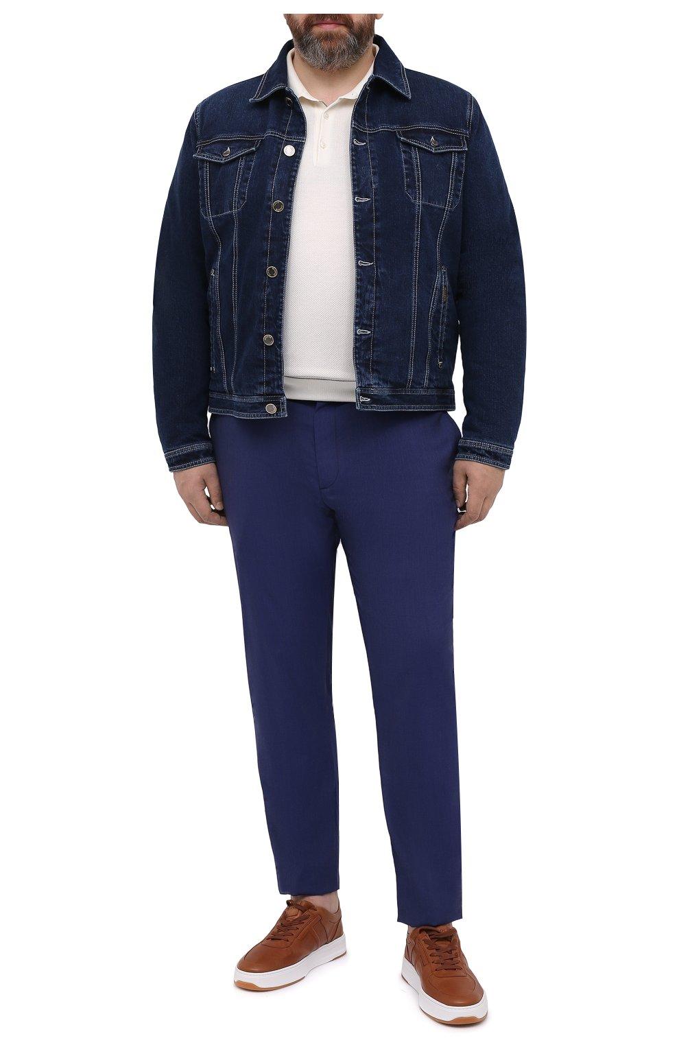 Мужские кашемировые брюки MARCO PESCAROLO синего цвета, арт. CHIAIAM/4334   Фото 2 (Big sizes: Big Sizes; Материал внешний: Шерсть, Кашемир; Длина (брюки, джинсы): Стандартные; Случай: Повседневный; Стили: Кэжуэл)