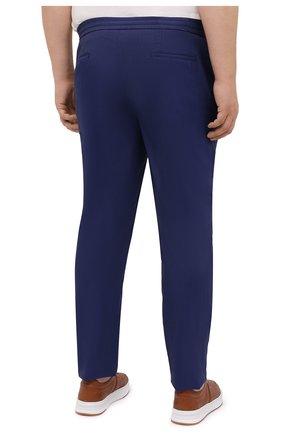 Мужские кашемировые брюки MARCO PESCAROLO синего цвета, арт. CHIAIAM/4334   Фото 4 (Big sizes: Big Sizes; Материал внешний: Шерсть, Кашемир; Длина (брюки, джинсы): Стандартные; Случай: Повседневный; Стили: Кэжуэл)