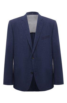 Мужской пиджак из шерсти и льна EDUARD DRESSLER синего цвета, арт. 7051/51014 | Фото 1