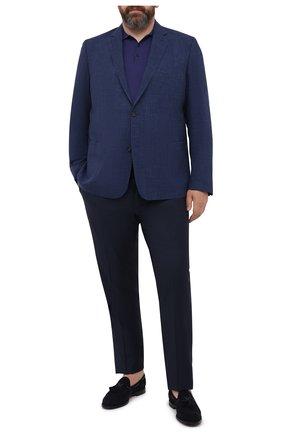 Мужской пиджак из шерсти и льна EDUARD DRESSLER синего цвета, арт. 7051/51014 | Фото 2