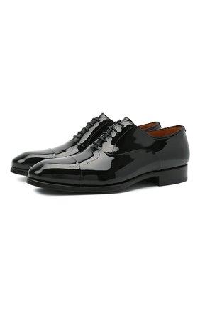 Мужские кожаные оксфорды MAGNANNI черного цвета, арт. 21225/CHAR0L | Фото 1