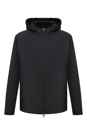 Мужская утепленная куртка LORO PIANA темно-серого цвета, арт. FAL5202 | Фото 1 (Рукава: Длинные; Кросс-КТ: Куртка; Материал внешний: Шерсть; Стили: Кэжуэл; Материал утеплителя: Шерсть; Длина (верхняя одежда): Короткие; Мужское Кросс-КТ: утепленные куртки)
