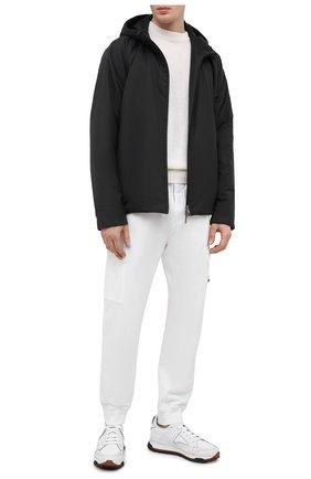 Мужская утепленная куртка LORO PIANA темно-серого цвета, арт. FAL5202 | Фото 2 (Рукава: Длинные; Кросс-КТ: Куртка; Материал внешний: Шерсть; Стили: Кэжуэл; Материал утеплителя: Шерсть; Длина (верхняя одежда): Короткие; Мужское Кросс-КТ: утепленные куртки)