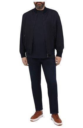 Мужская хлопковая футболка KIRED темно-синего цвета, арт. WBACI0LW7321006001/64-74 | Фото 2