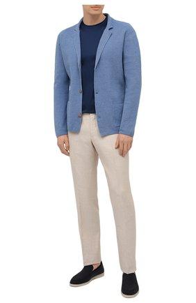 Мужская хлопковая футболка MARCO PESCAROLO синего цвета, арт. JAMES/4363 | Фото 2