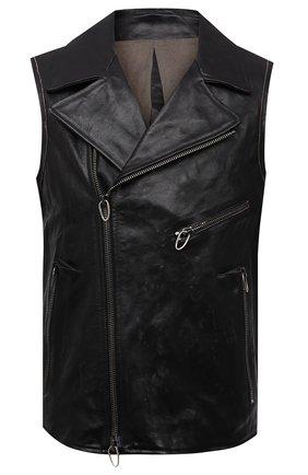 Мужской кожаный жилет DANIELE BASTA черного цвета, арт. DB780X38GR/CLASH JILE GR   Фото 1