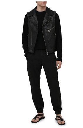 Мужской кожаный жилет DANIELE BASTA черного цвета, арт. DB780X38GR/CLASH JILE GR   Фото 2