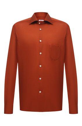 Мужская хлопковая рубашка KITON оранжевого цвета, арт. UMCNERH0760914/46-50 | Фото 1