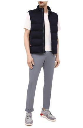 Мужские брюки KITON серого цвета, арт. UFPLACJ07T37 | Фото 2