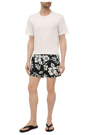 Мужские плавки-шорты TOM FORD черно-белого цвета, арт. BW655/TFB450 | Фото 2