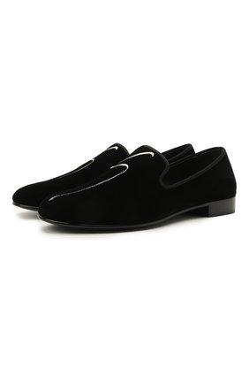 Мужские текстильные лоферы g-lewis GIUSEPPE ZANOTTI DESIGN черного цвета, арт. EU10004/001 | Фото 1 (Мужское Кросс-КТ: Вечерняя обувь; Материал внешний: Текстиль; Стили: Классический; Материал внутренний: Натуральная кожа)